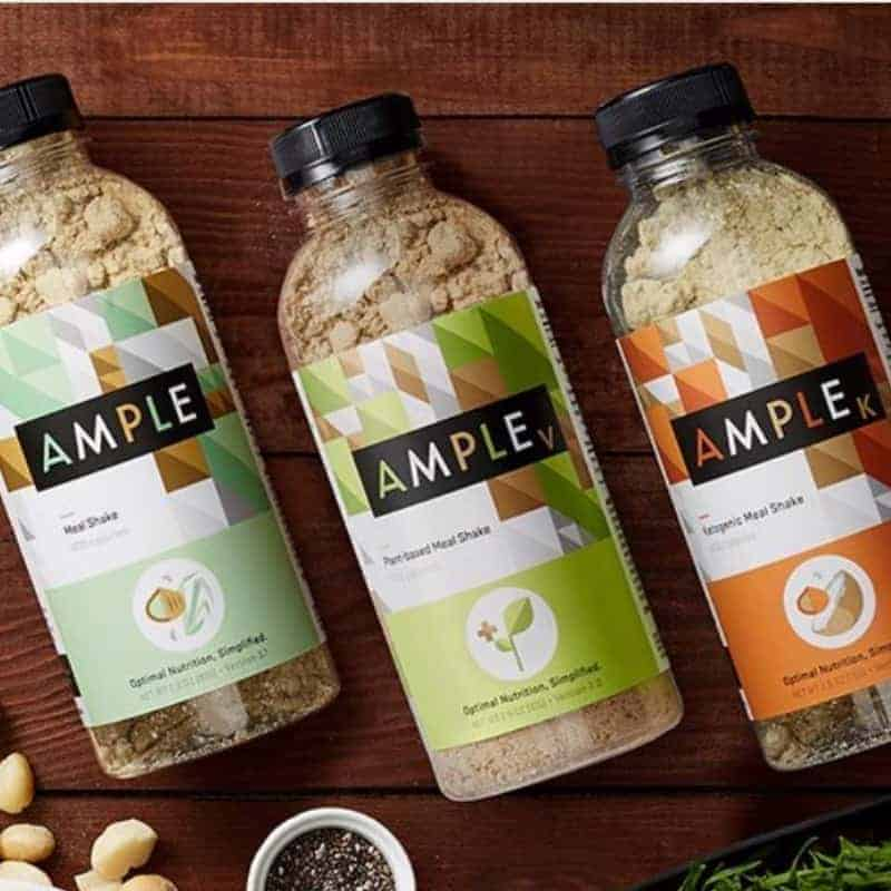 Ample Meal Shake powder bottles