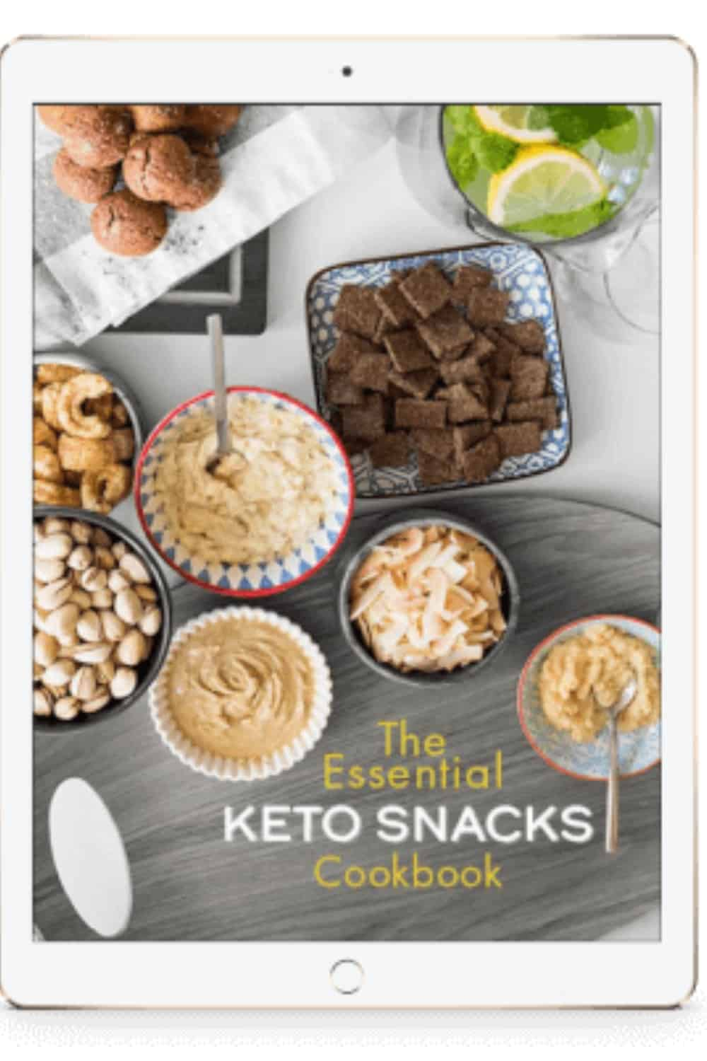 the essential keto snacks cookbooks on iPad