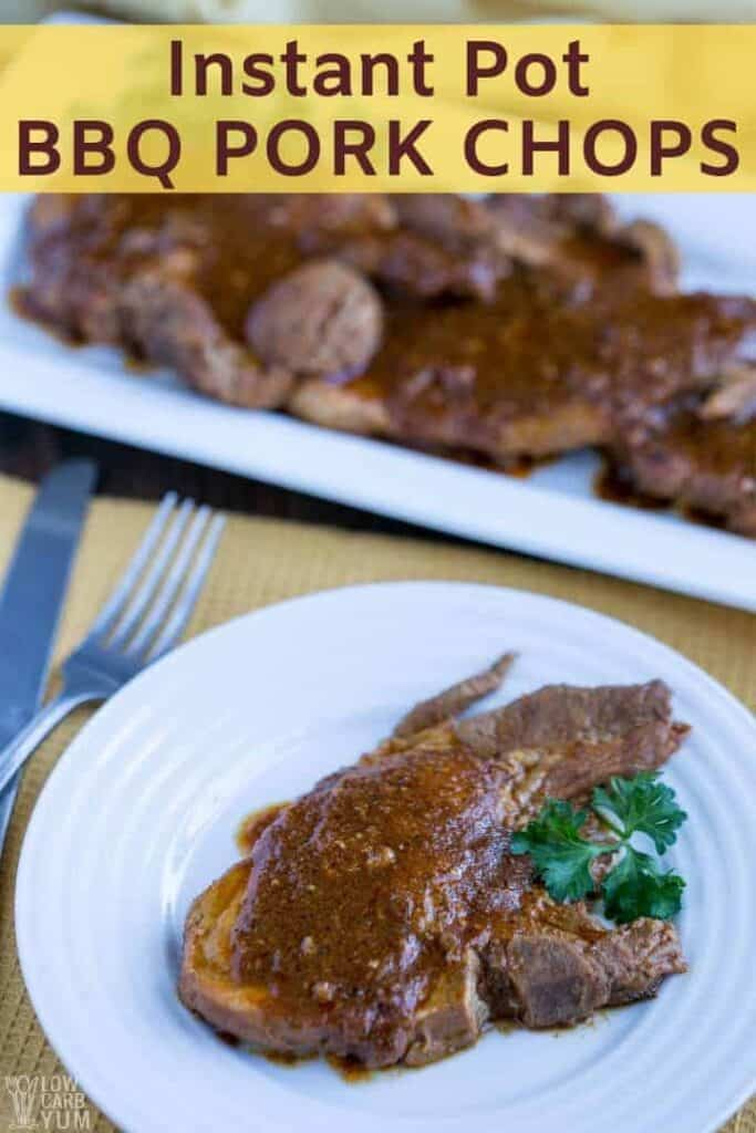 Instant Pot pork chops keto recipe with BBQ sauce