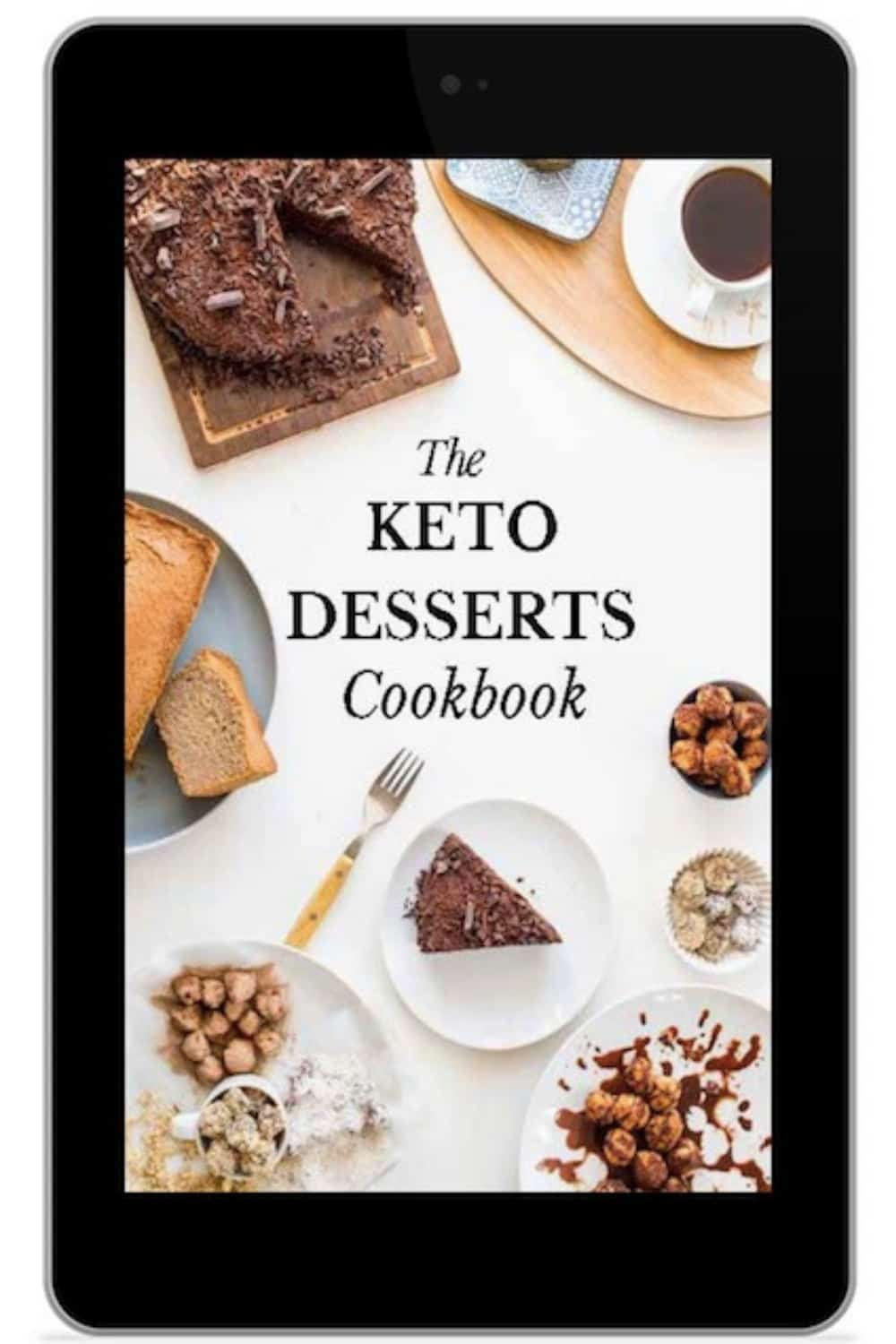 the keto desserts cookbook on iPad