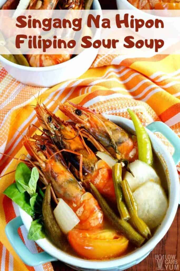 sinigang na hipon recipe - Filipino sour soup