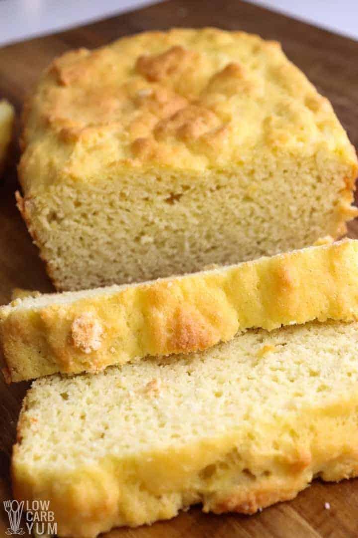 sliced loaf of coconut flour bread keto