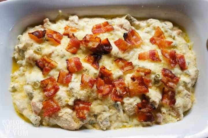 unbaked low carb chicken casserole