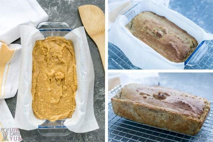 Baking the banana bread