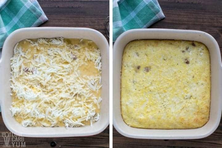 making egg casserole