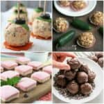 photo collage of fat bomb recipes