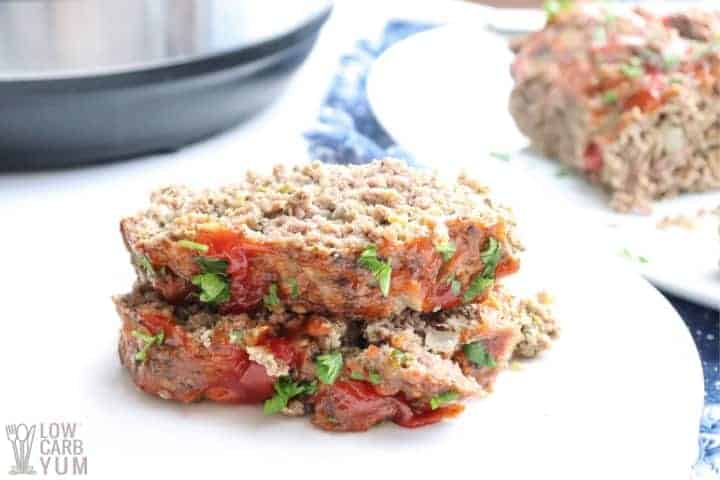 meatloaf slices on plate