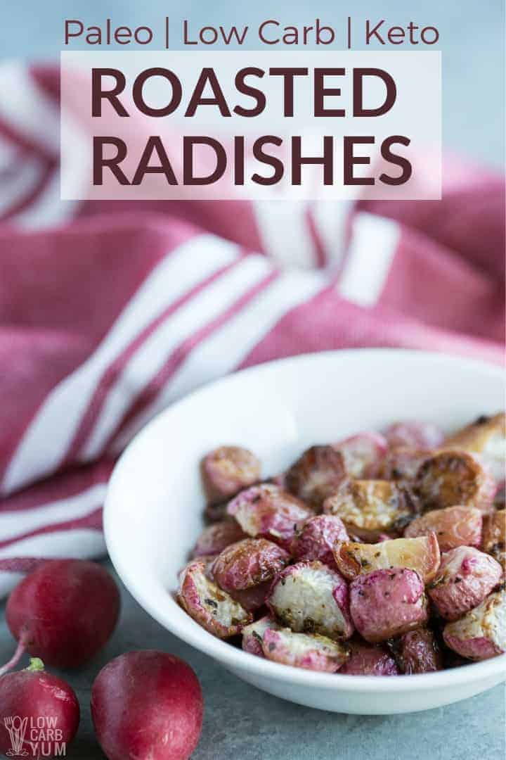 Roasted radishes keto recipe