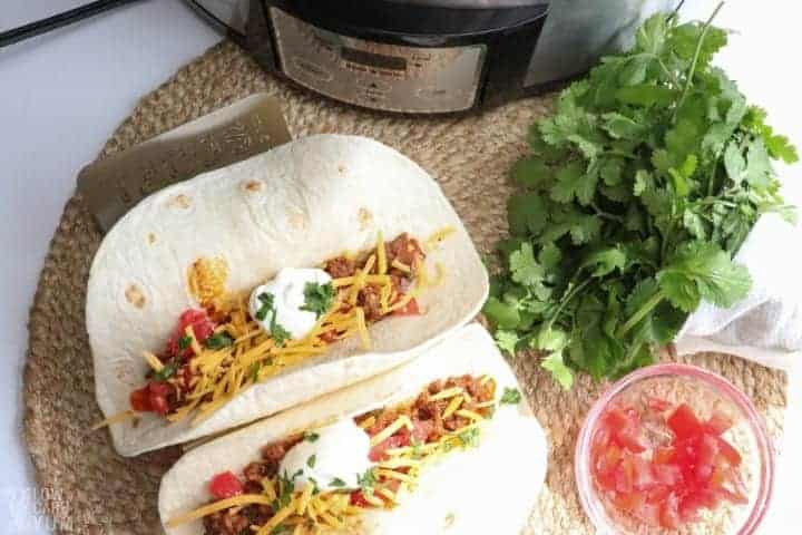 slow cooker taco meat beef tacos