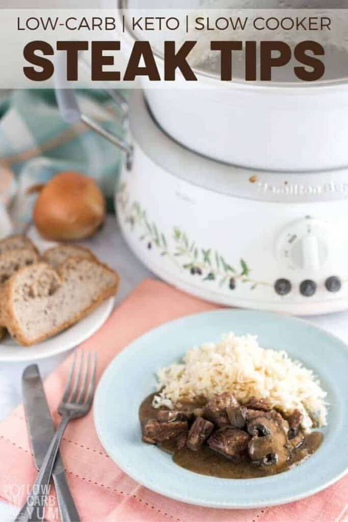 steak tips slow cooker recipe with cooker