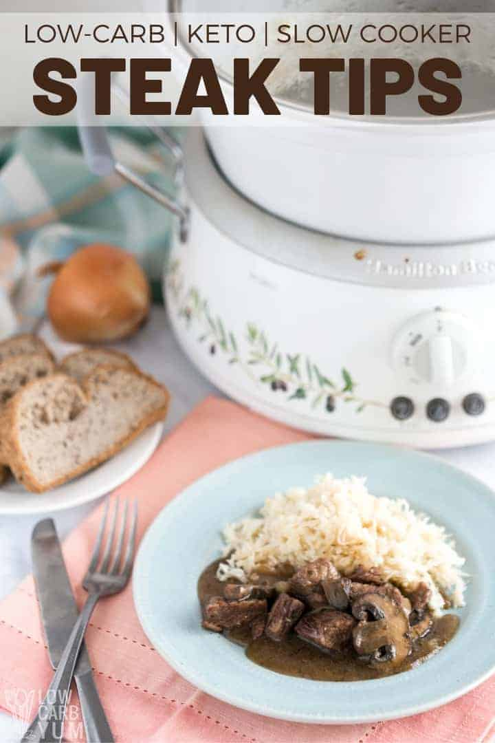 steak tips slow cooker recipe