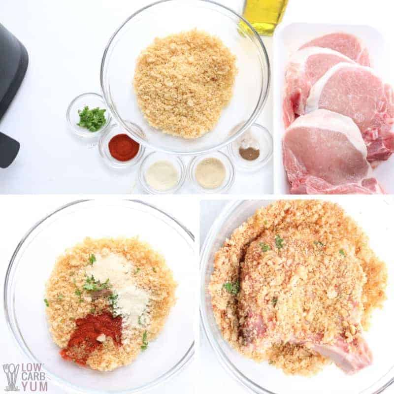 making low carb breading for pork chops