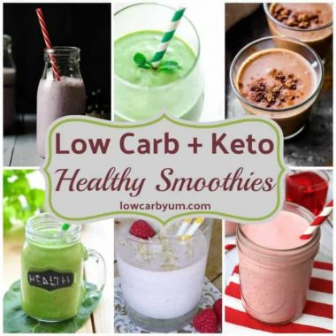 Low Carb Yum low carb and keto healthy smoothies