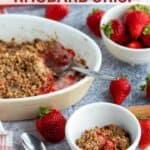 low carb keto gluten free strawberry rhubarb crisp