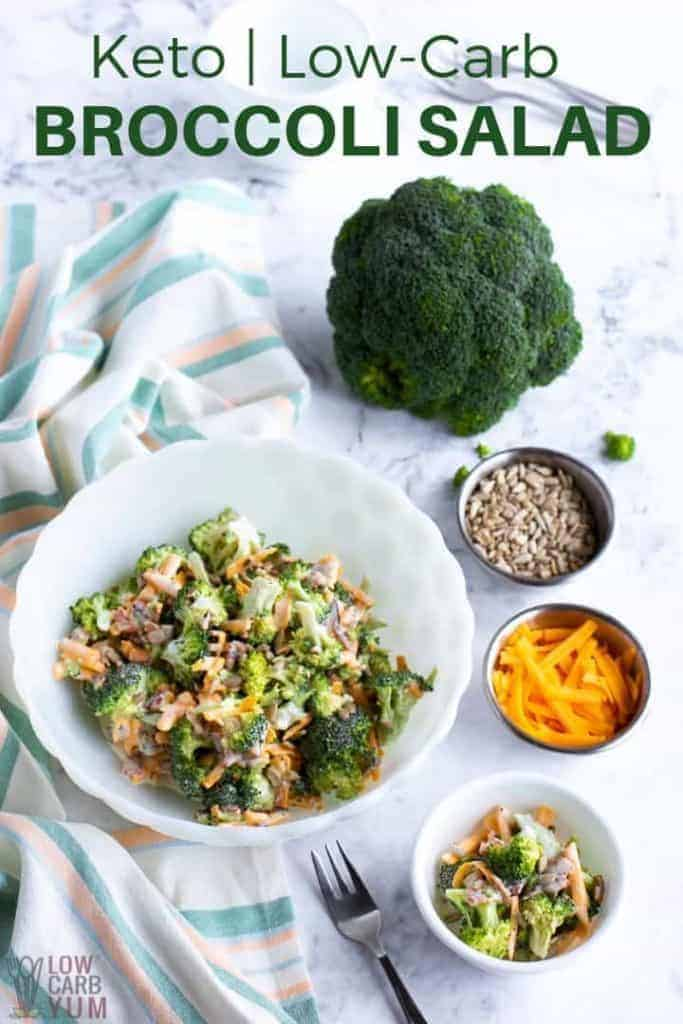 keto low carb broccoli salad