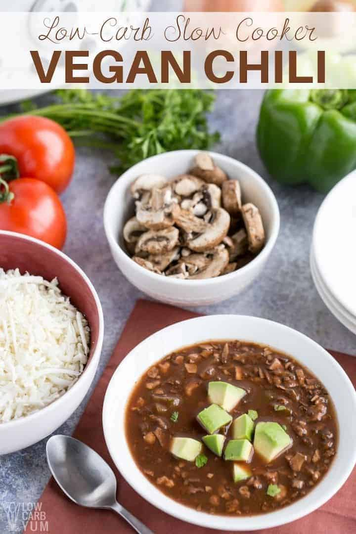 slow cooker vegan chili recipe