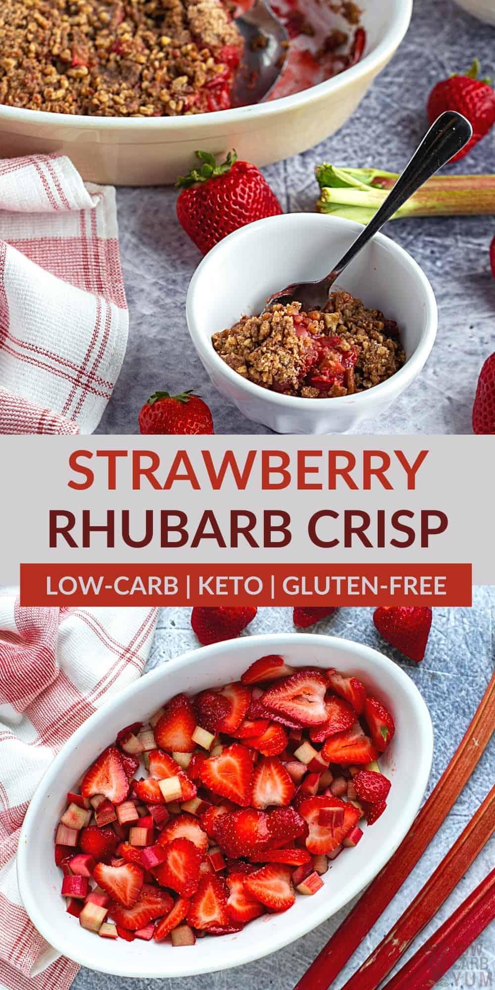 strawberry rhubarb crisp pinterest image