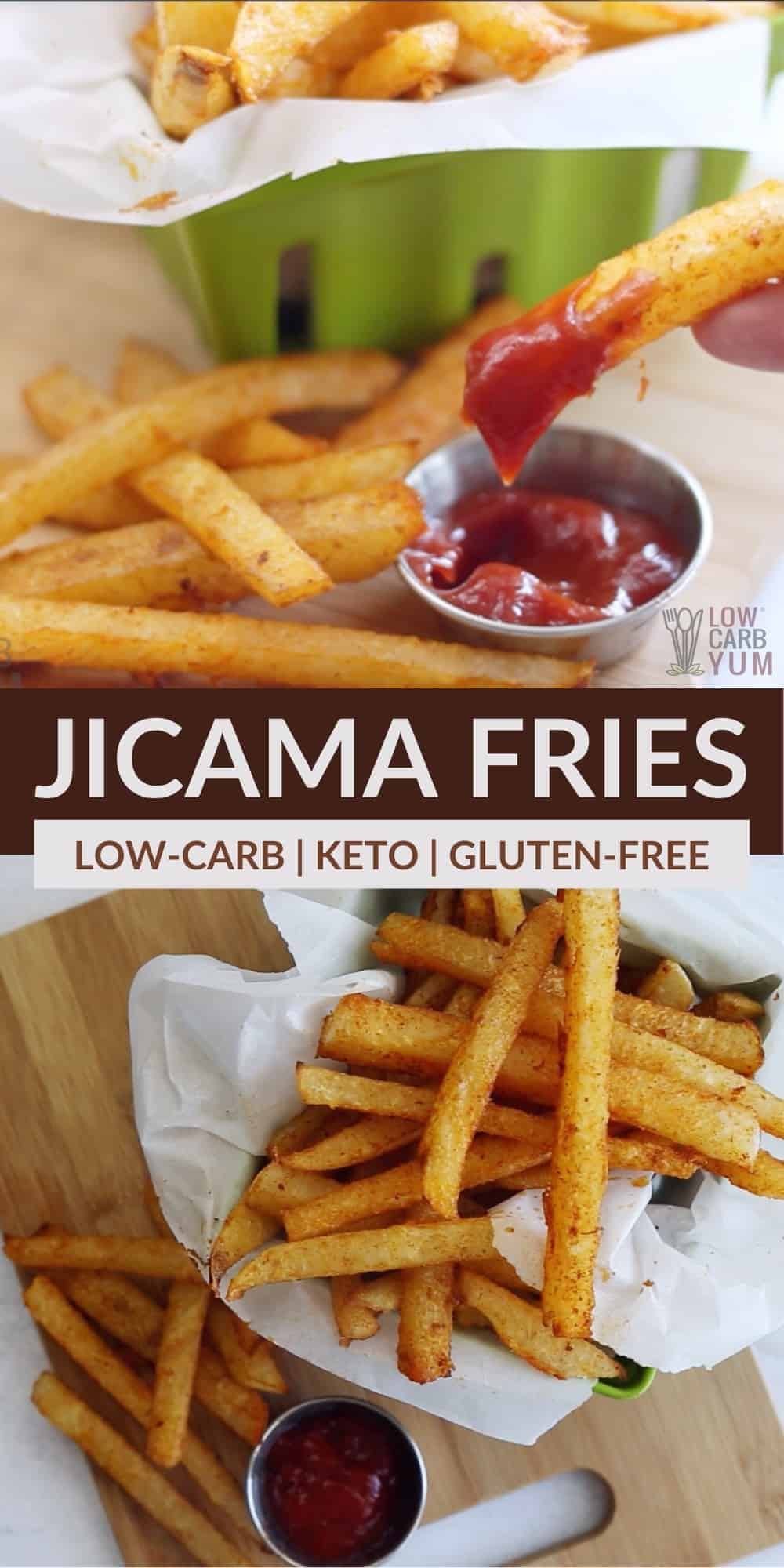 jicama fries pinterest image