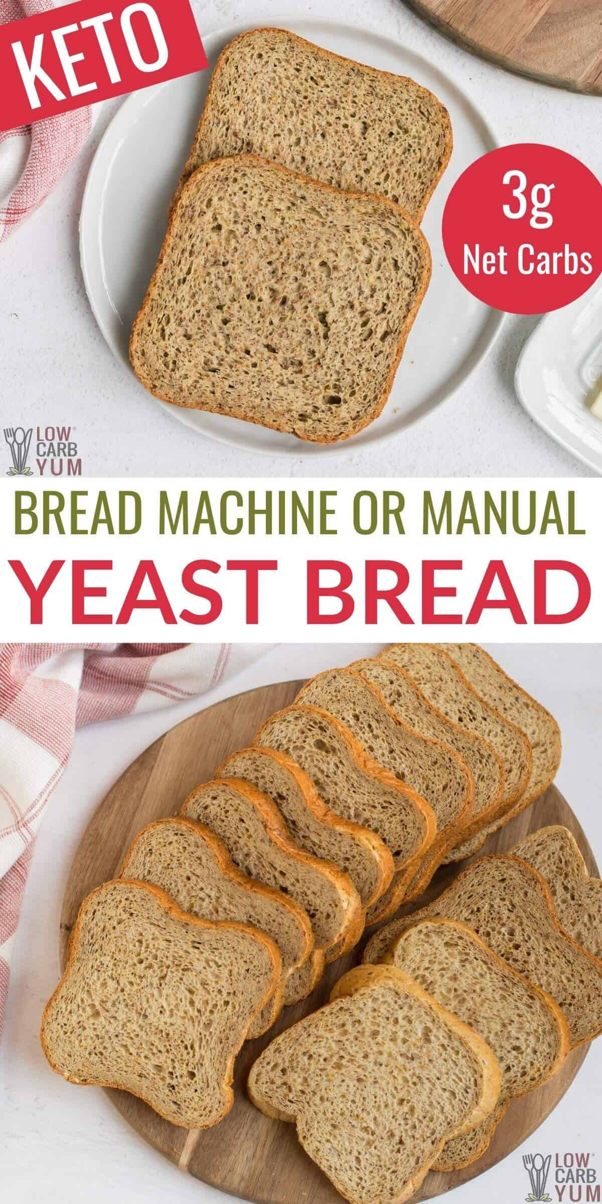 bread machine keto yeast bread