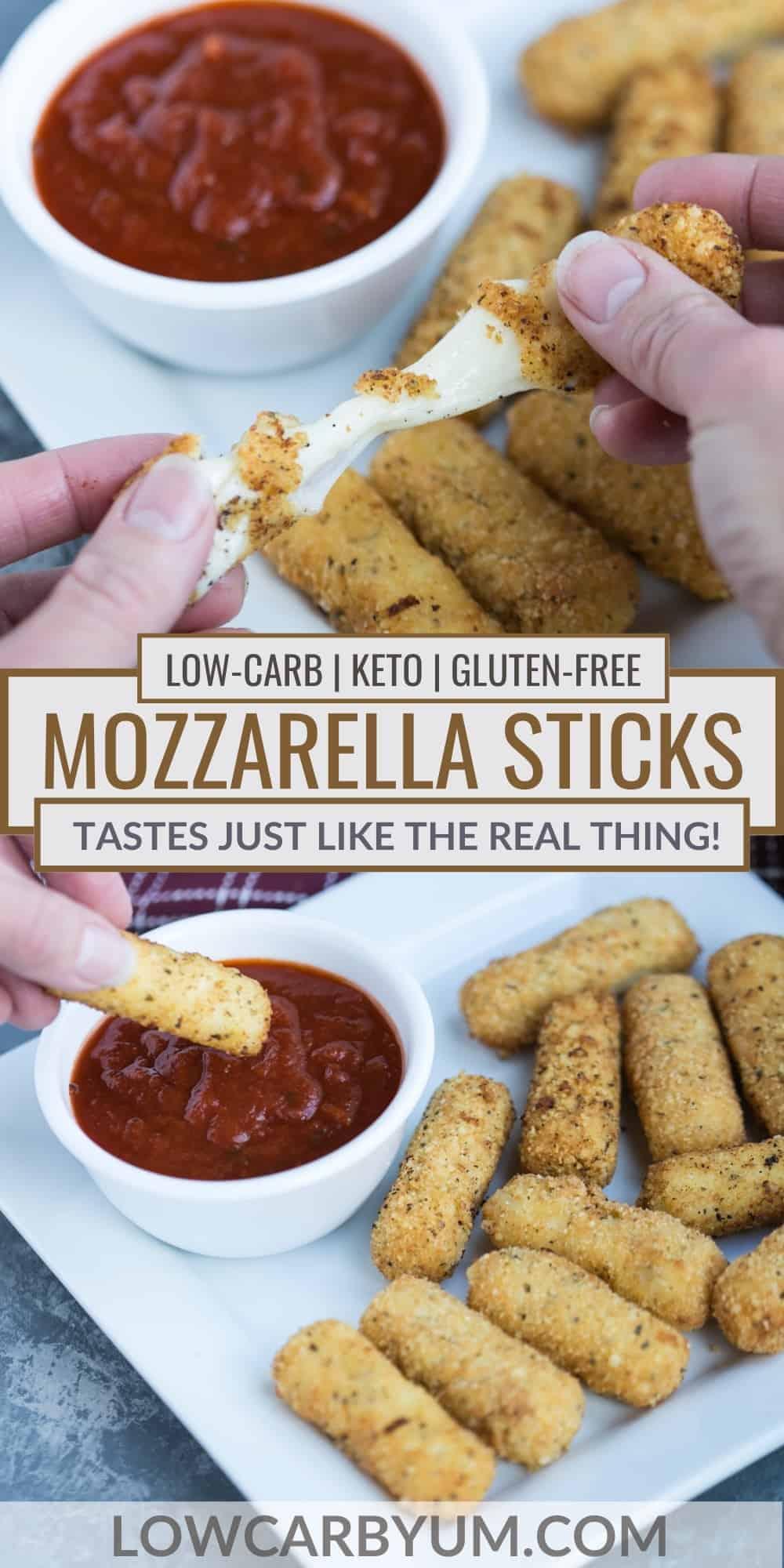 keto mozzarella sticks pinterest image