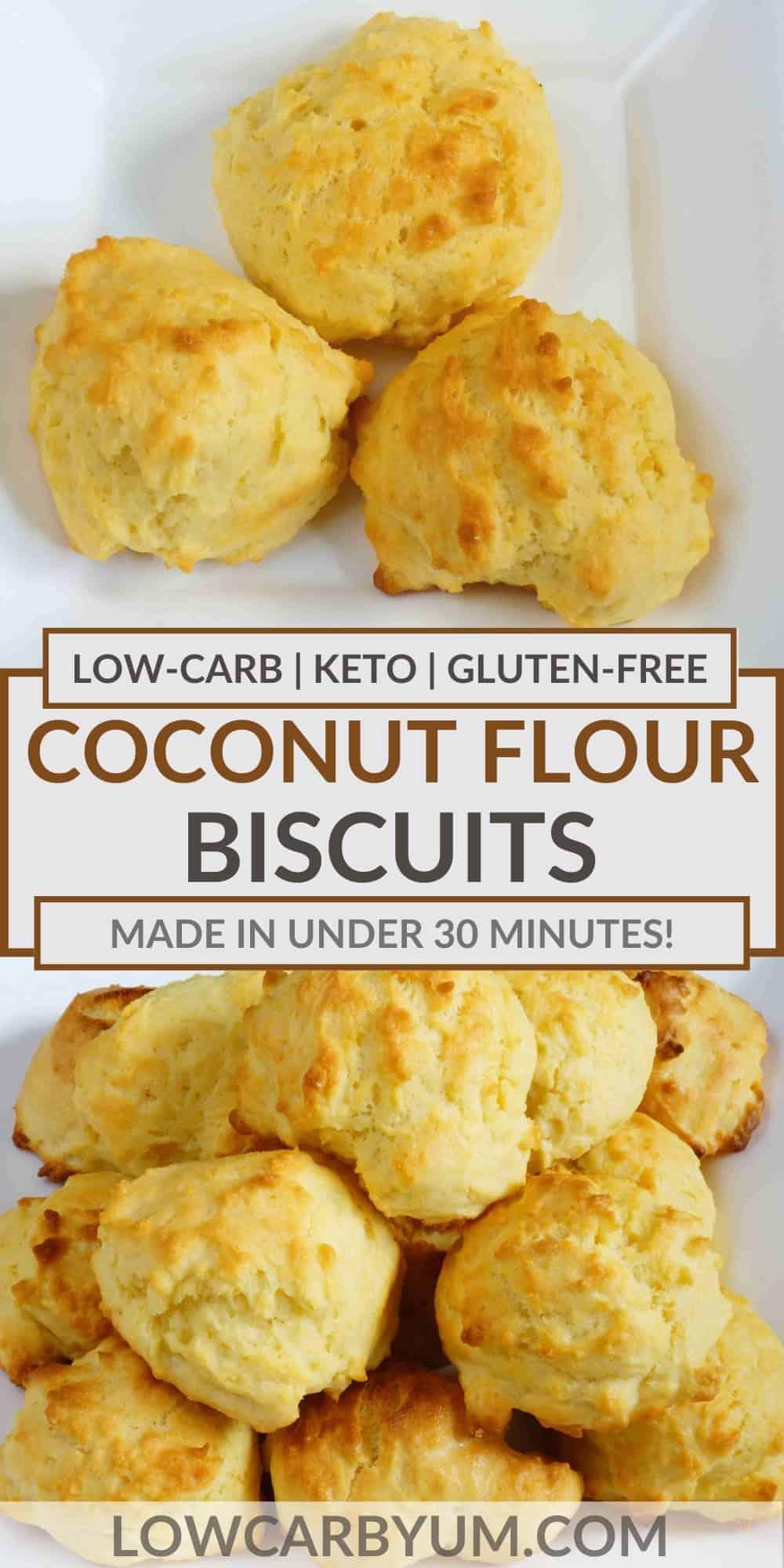 coconut flour biscuits pinterest image