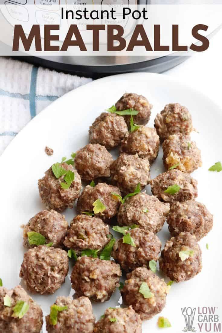 keto instant pot meatballs