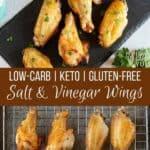 Keto salt and vinegar wings