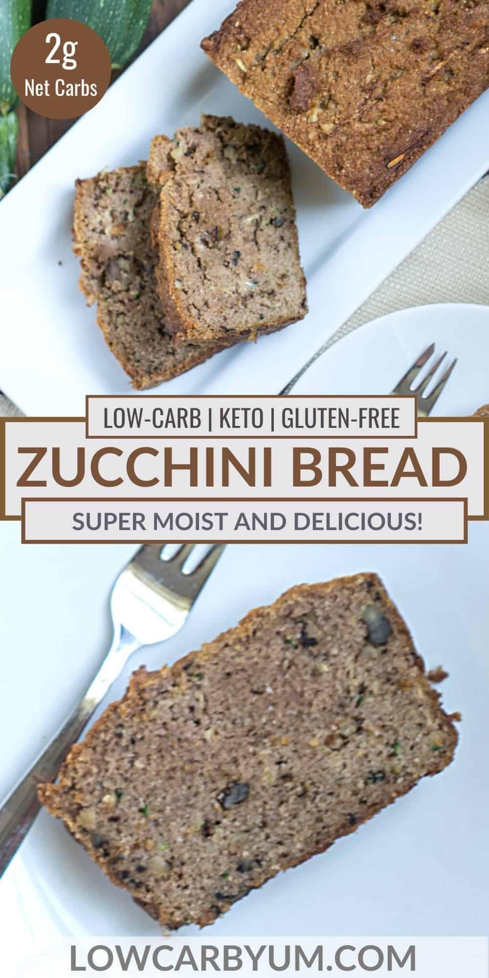 keto zucchini bread pinterest image