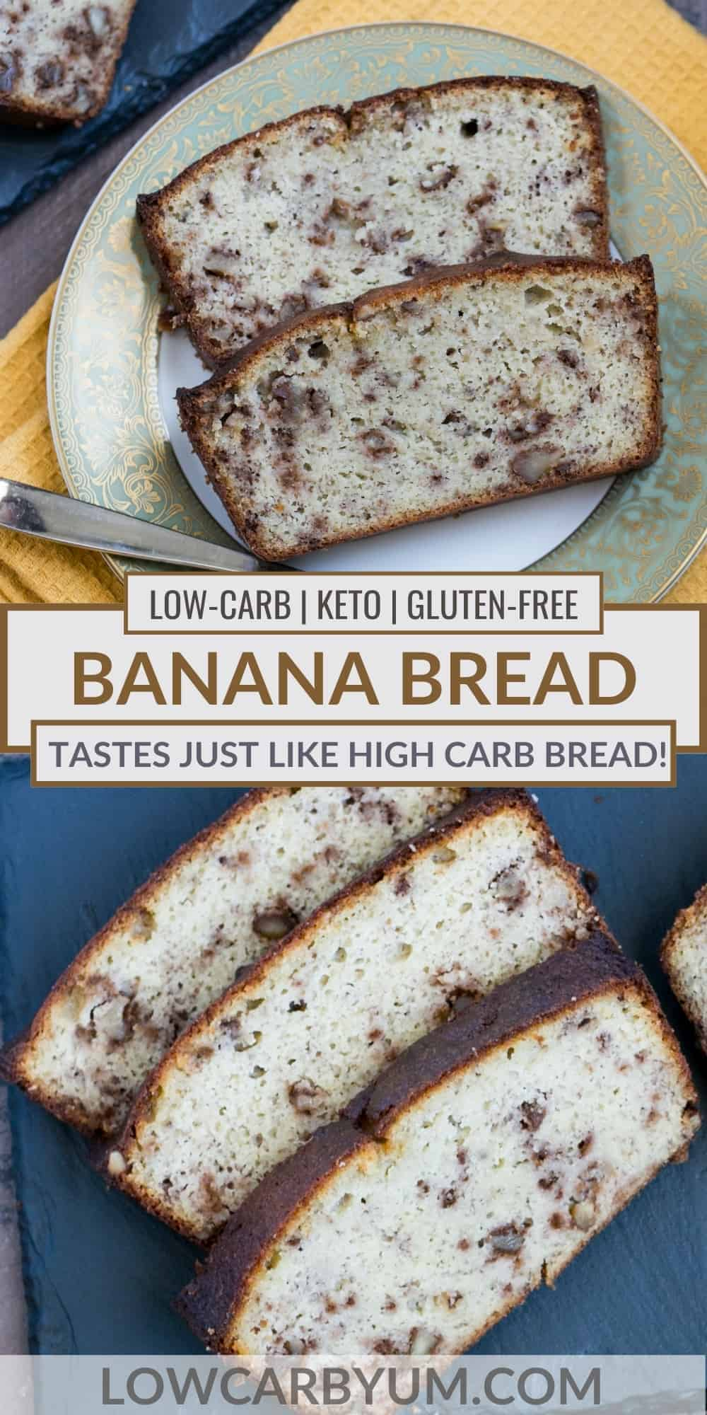 low carb banana bread pinterest image