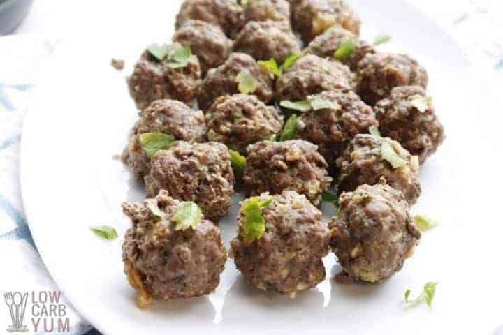 pressure cooker meatballs on plate