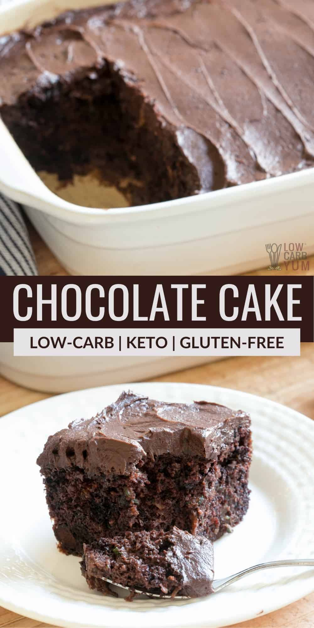 keto chocolate cake pinterest image