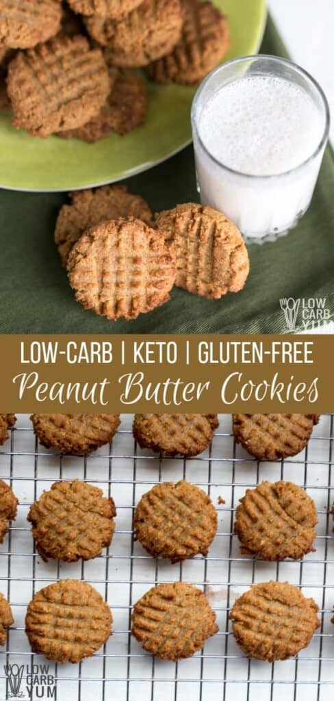 Low Carb Keto Peanut Butter Cookies with Coconut Flour