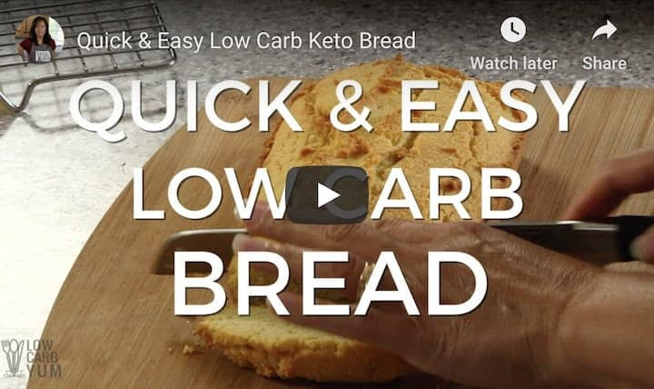 low carb bread cooking show video