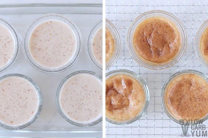 baking the custard