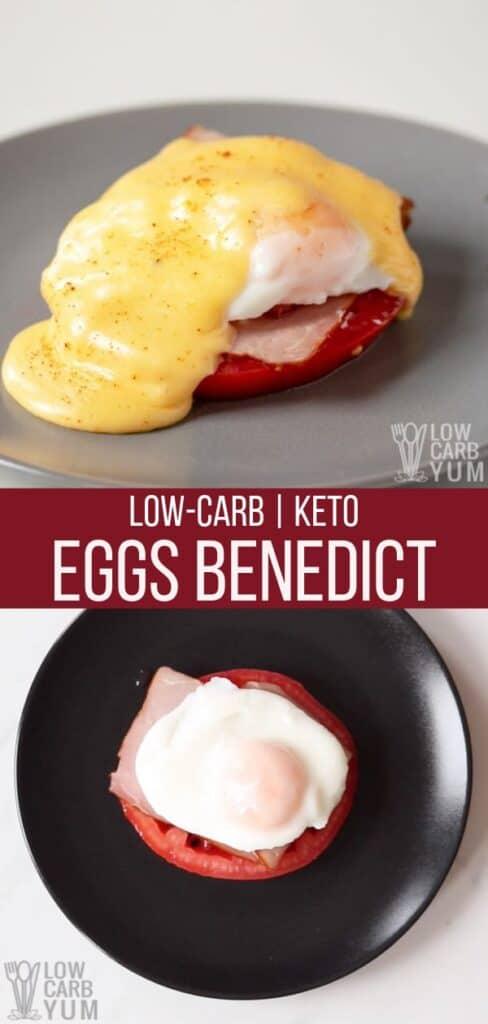 low carb keto eggs benedict recipe