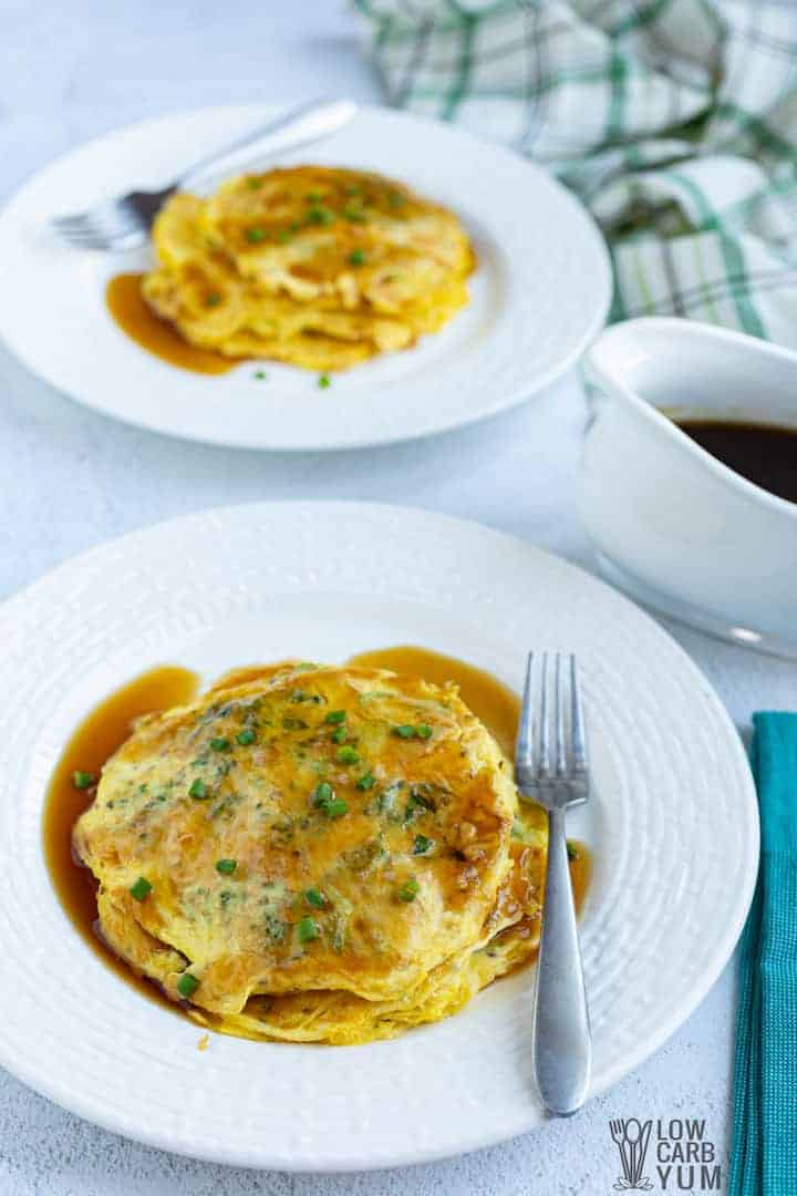 chicken egg foo young recipe image