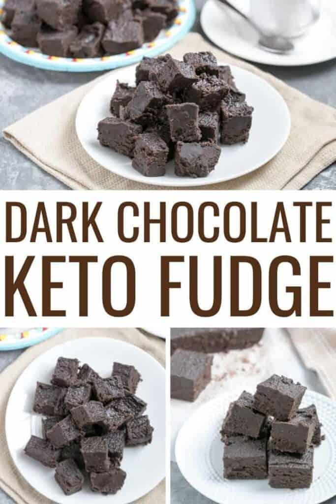 dark chocolate keto fudge