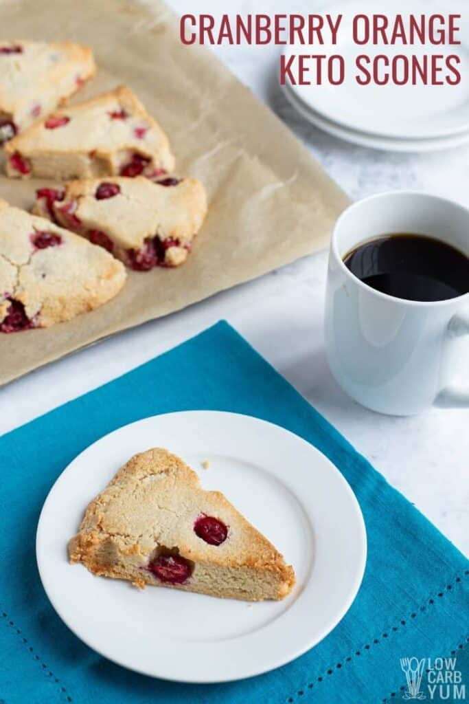 Cranberry Orange Keto Scones Recipe