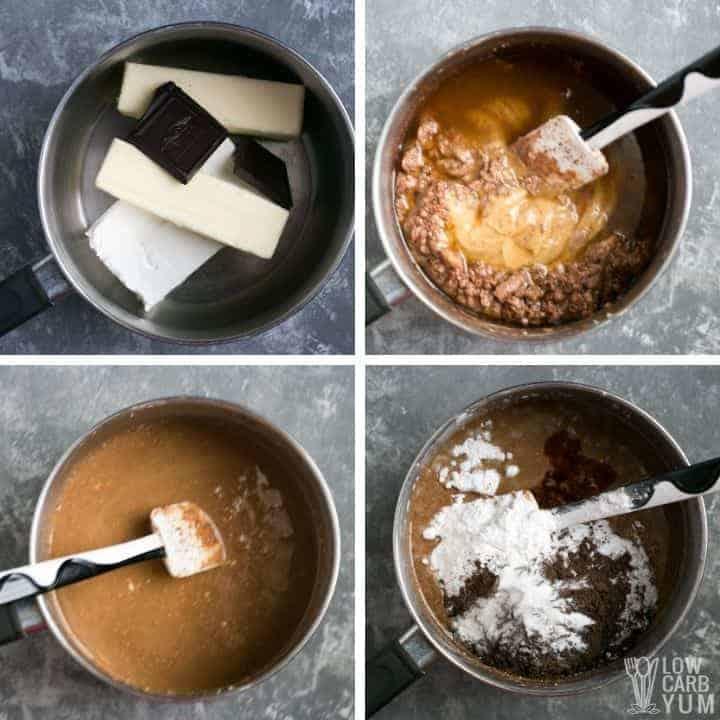 incorporating fat into fudge