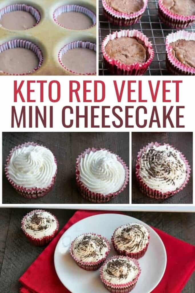 keto red velvet cheesecake cupcakes