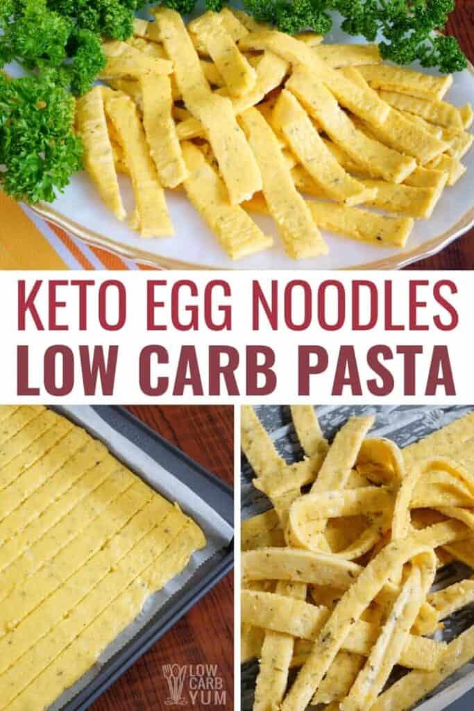 keto egg noodles low carb pasta