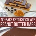 no bake keto chocolate peanut butter bars