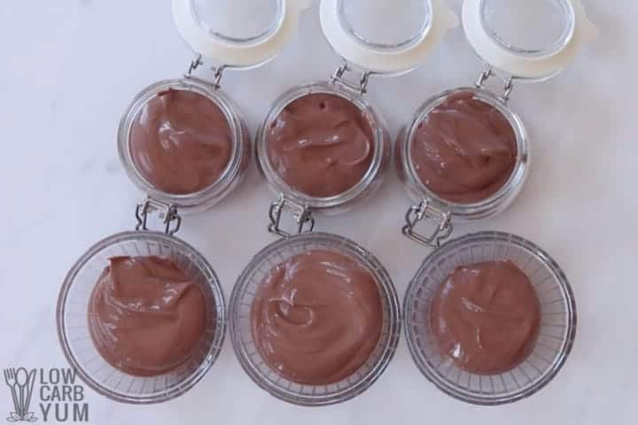 dividing into single pudding servings