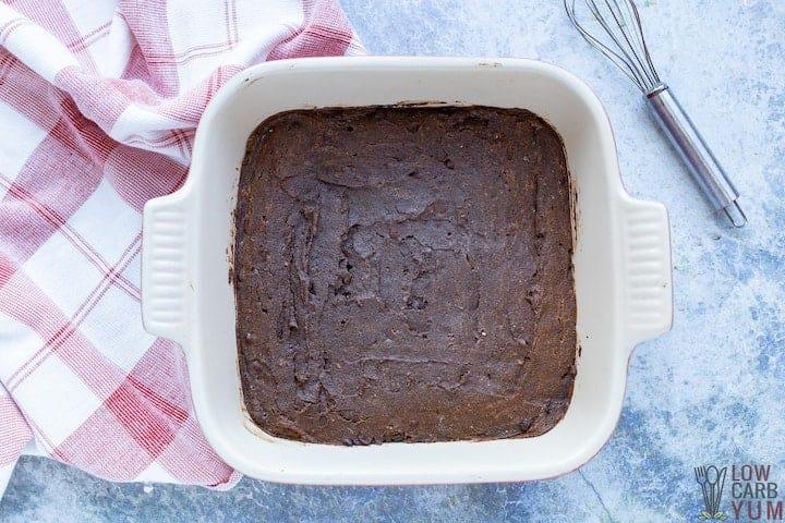 baked brownies in square pan