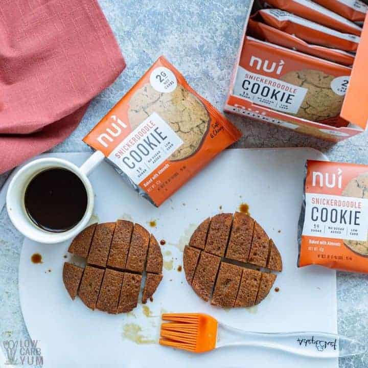 brush coffee on cookies