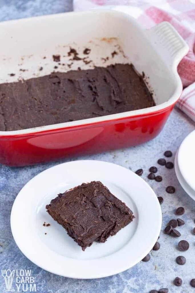 serving coconut flour brownies
