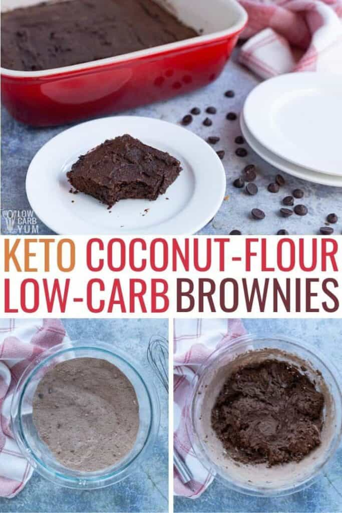 keto coconut flour low carb brownies