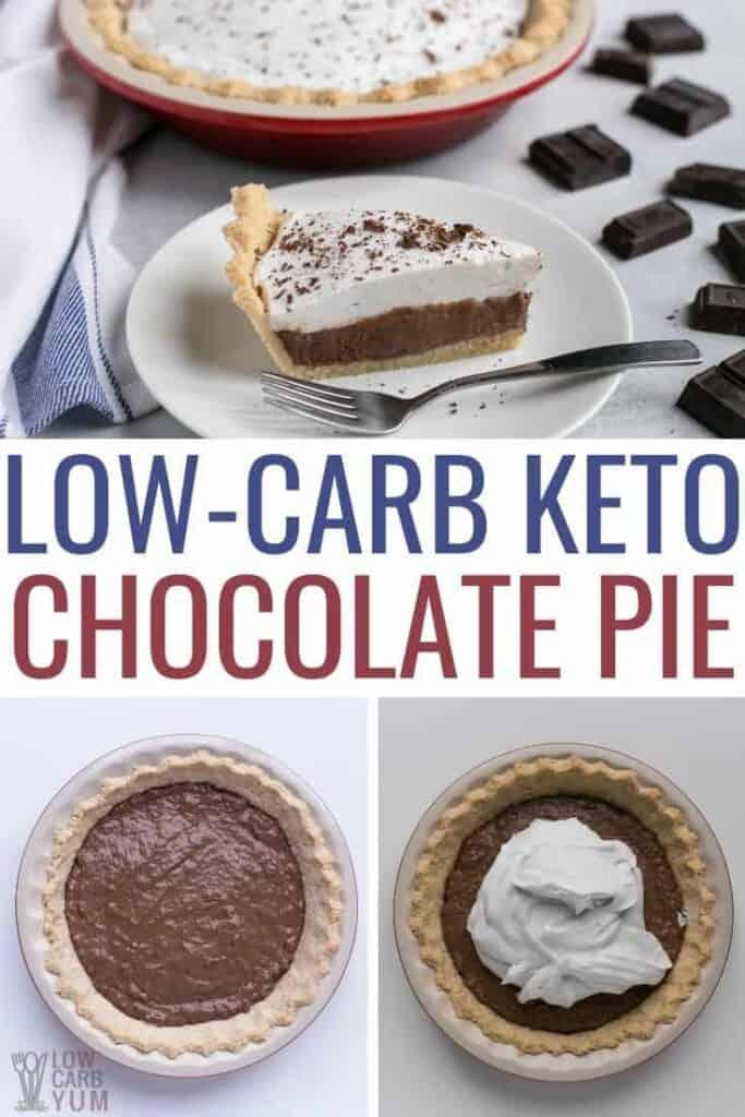 low carb keto chocolate pie