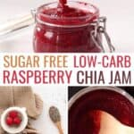 low carb sugar free raspberry chia jam recipe