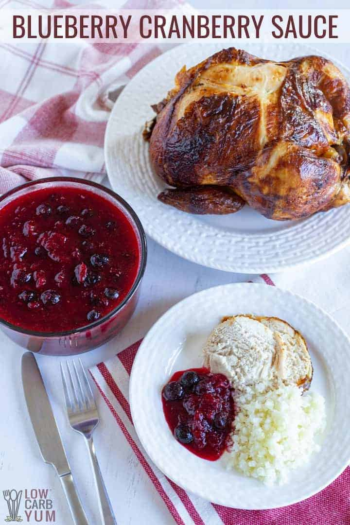 sugar free cranberry blueberry sauce